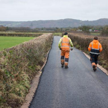Workmen Walking Away